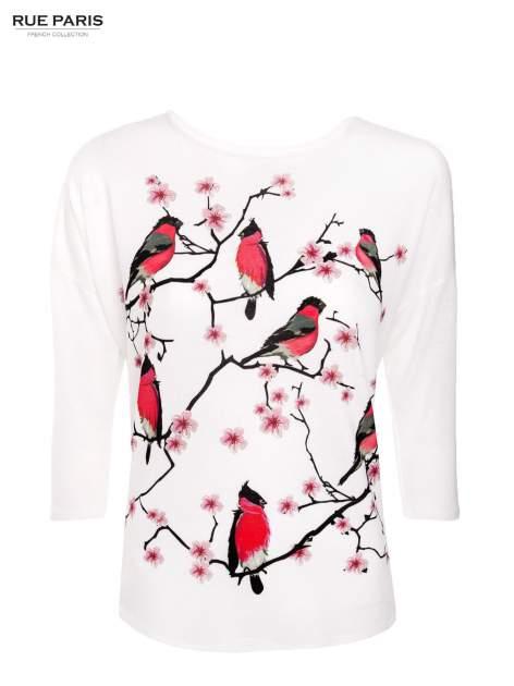 Ecru bluzka z floral printem