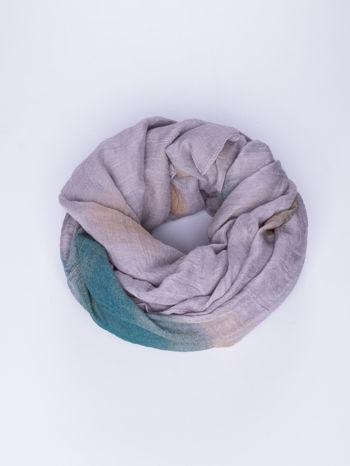 Fioletowo-brązowa chusta z efektem ombre