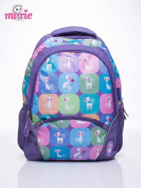 Fioletowy plecak szkolny DISNEY kotka Marie