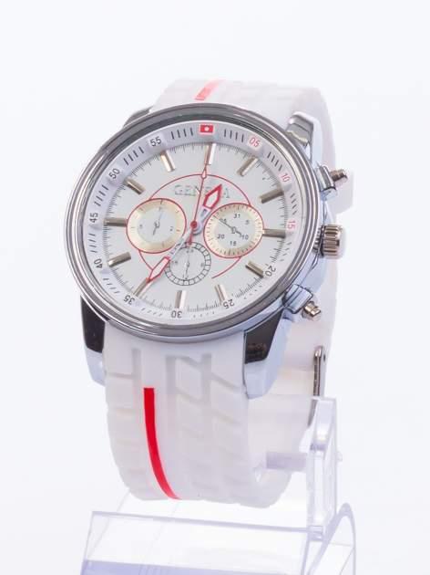 GENEVA Biały zegarek męski MILITARY