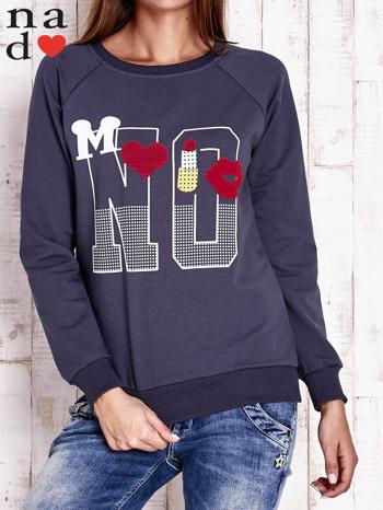 Grafitowa bluza z napisem NO