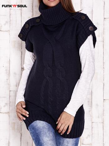 Granatowy sweter z golfem FUNK N SOUL