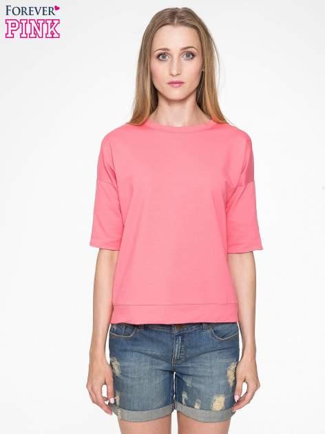 Koralowa bluza z suwakiem z tyłu