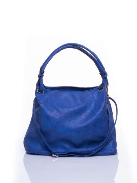 Niebieska ażurowa torba na ramię