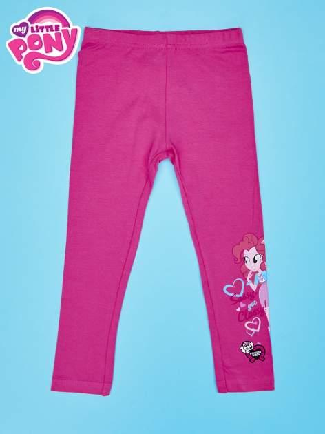 Różowe legginsy dla dziewczynki motyw MY LITTLE PONY