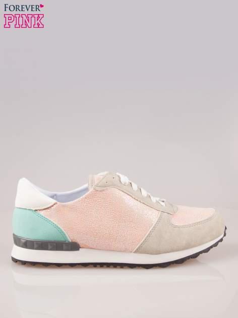 Różowe miejskie buty sportowe damskie