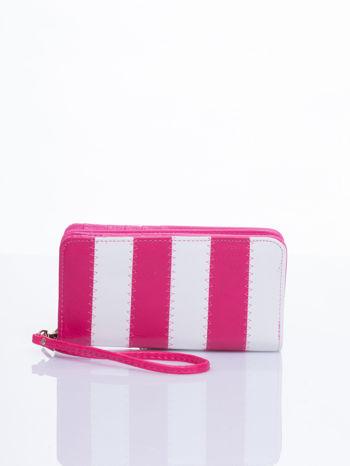 Różowy portfel w paski