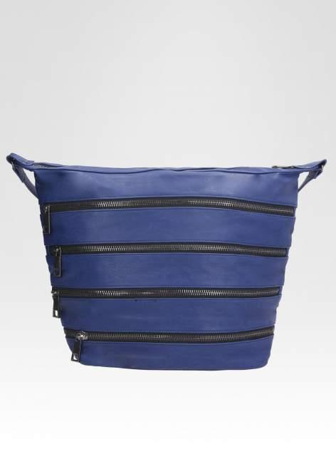 STRADIVARIUS Granatowa torba z zipami