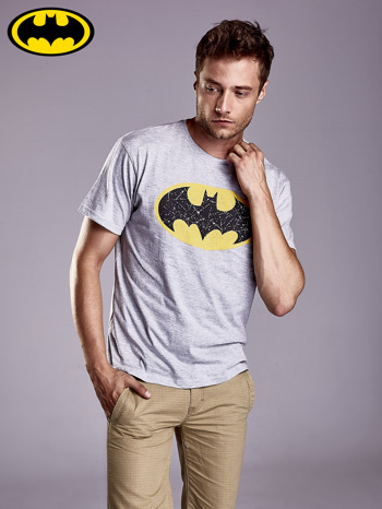 Szary t-shirt męski BATMAN