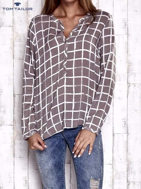 TOM TAILOR Beżowa koszula w kratę
