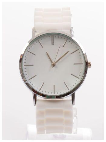 Zegarek unisex. Duża, wyraźna tarcza i doskonała prezencja. Wygodny silikonowy pasek.