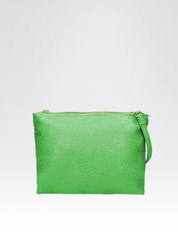 Zielona torebka dwukomorowa z paskiem