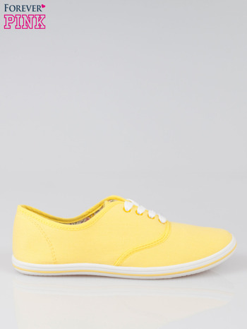 Żółte trampki z tkaniny