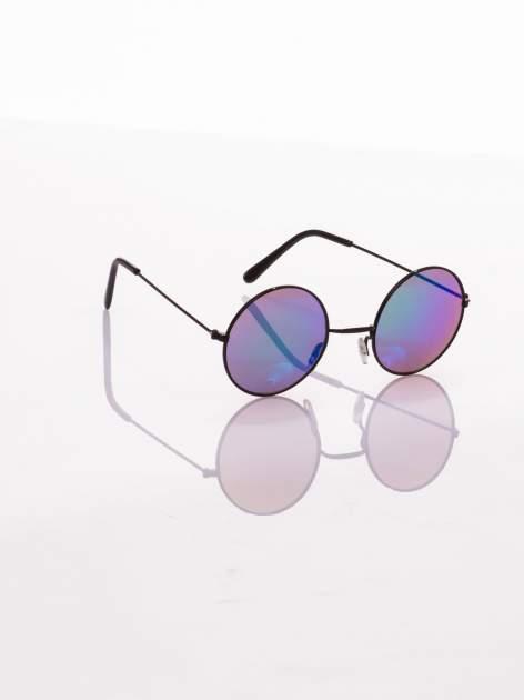 czarne okulary lustrzanki przeciwsłoneczne LENONKI PONADCZASOWE
