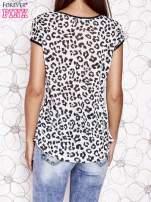 Biało-czarny t-shirt z zwierzęcymi motywami
