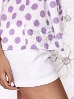 Biały top w fioletowe grochy na cienkich ramiączkach Funk n Soul