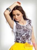 Bluzka z modnym nadrukiem