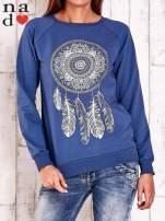 Ciemnoniebieska bluza z łapaczem snów