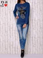 Ciemnoniebieska bluza z motywem gwiazdek