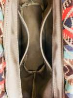 Ciemnoniebieska torba gumowa z motywem azteckim