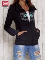 Czarna bluza z nadrukiem i motywem ombre