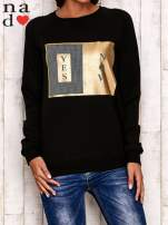 Czarna bluza z napisem YES NOW