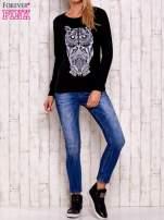 Czarna bluza z sową