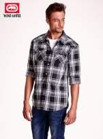 Czarna koszula męska w kratę