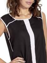 Czarna koszula z kontrastowymi przeszyciami