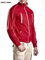 Czerwona bluza męska z kieszeniami na suwak Funk n Soul