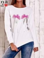 Ecru bluza z nadrukiem szpilek