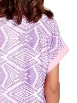 Fioletowa tunika w azteckie wzory