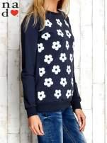Grafitowa bluza z nadrukiem kwiatów