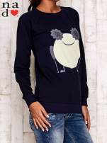 Granatowa bluza z komiksowym nadrukiem