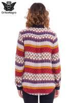 Koszula z biżuteryjnym kołnierzykiem we wzór patchworkowy