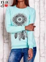 Miętowa bluza z łapaczem snów