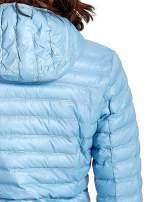 Niebieska lekka kurtka puchowa z kapturem