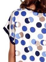 Niebieska tunika w kolorowe grochy