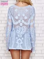 Niebieski ażurowy sweterek mgiełka