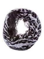 Panterkowa chusta w biało-czarne cętki