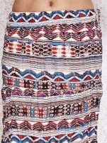 Różowa letnia spódnica maxi we wzory etno