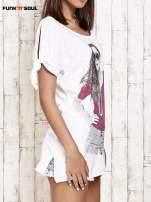 Różowy t-shirt z nadrukiem dziewczyny Funk'n'Soul