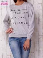 Szara bluza z napisem