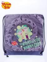 Szary plecak worek DISNEY Fineasz i Ferb
