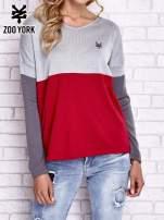 Szary sweter z trójkątnym dekoltem