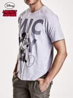 Szary t-shirt męski MICKEY MOUSE