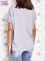 Szary t-shirt oversize