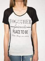 Szary t-shirt z napisem TOGETHER IS MY FAVOURITE PLACE TO BE