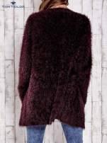 TOM TAILOR Bordowy włochaty sweter