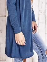 Turkusowy długi sweter